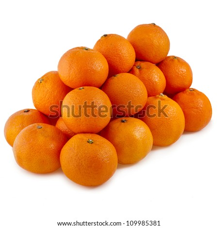 orange mandarines heap