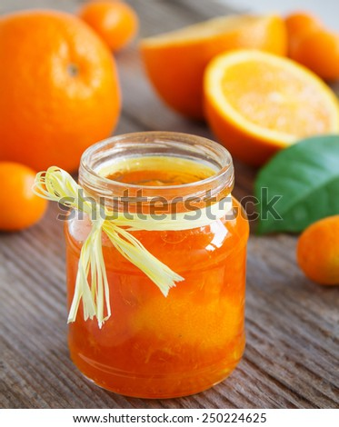 Orange marmalade. - stock photo