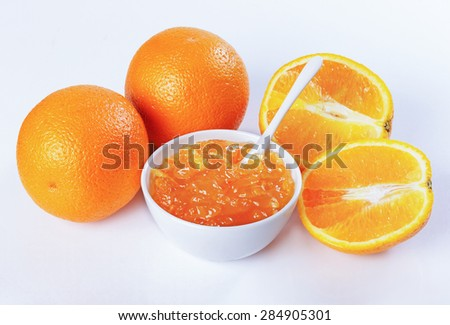 orange marmalade, orange - stock photo
