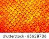 Orange Metal diamond plate - stock photo