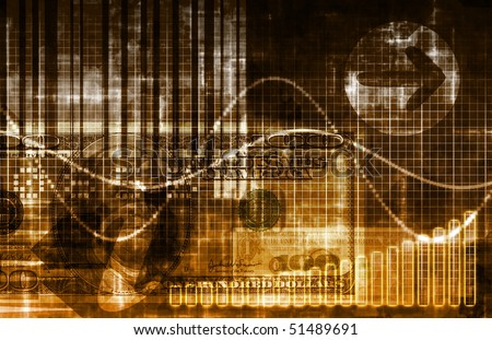 Orange Money Technology Business Background as Art - stock photo