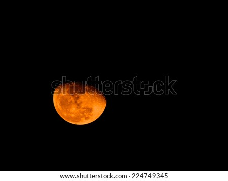 Orange moon - stock photo
