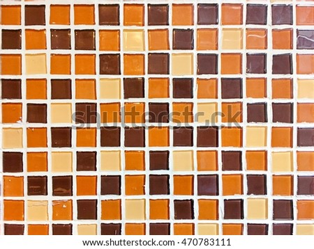 Orange mosaic background