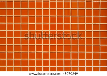orange mosaic texture for abstract background - stock photo