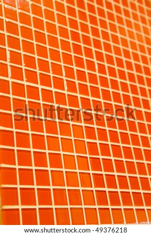 Orange mosaic texture for abstract background