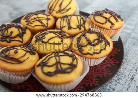 Orange Muffins - stock photo