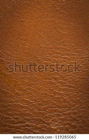 Orange natural leather texture background