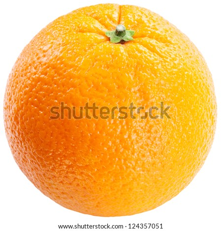 Orange on a white background. - stock photo