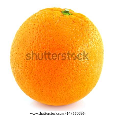 Orange on a white background. - stock photo