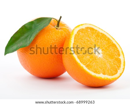 Orange on a white background - stock photo