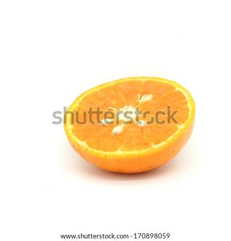orange on white background - stock photo