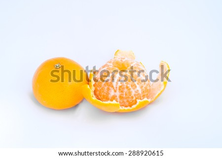 orange on white background - stock photo