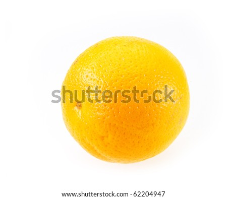 Orange on white background with copy space