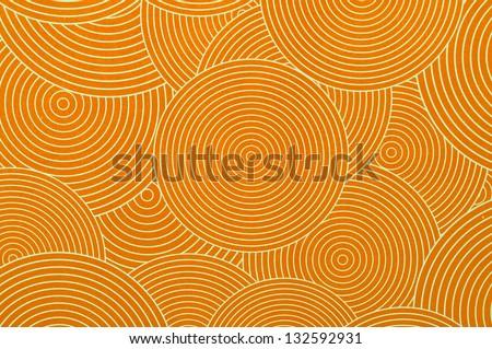 Orange ornamental seamless pattern - stock photo