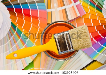 Different Shades Of Orange Paint blue paint can samples different shades stock photo 463282829