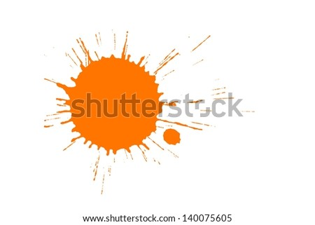 Orange paint splash - stock photo
