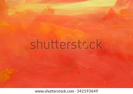 orange painted artistic canvas background texture - stock photo