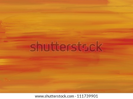 Orange painted paper - stock photo