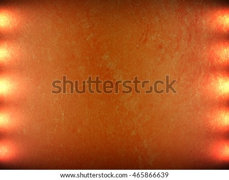 orange painting wall with spotlight background