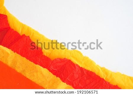 orange paper design - stock photo