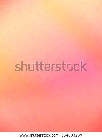 Orange pink abstract geometric background consisting of colored hexagons - stock photo