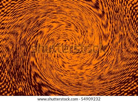 Orange pinwheel background - stock photo