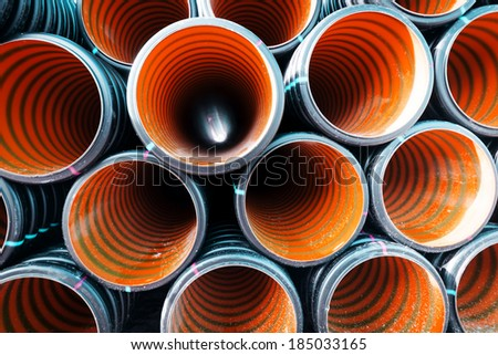 orange pipes - stock photo