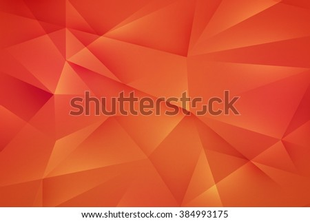 Orange Polygonal Background Texture - stock photo