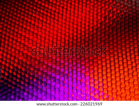Orange-purple honeycomb background - stock photo