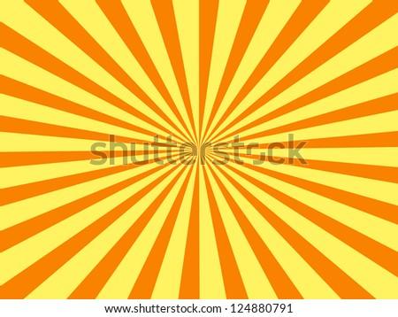 orange rays - stock photo