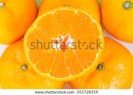 Orange Ripe fruit - stock photo