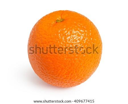 Orange. Ripe orange isolated on white background - stock photo