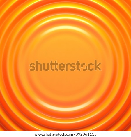 Orange rippled background with place for your content. Pattern design for banner, poster, flyer, card, postcard, cover, brochure. - stock photo