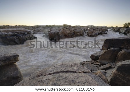 orange river at augrabies falls, augrabies national park, northern cape, south africa - stock photo