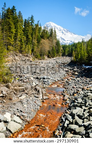 Orange River at Mount Rainier National Park - stock photo