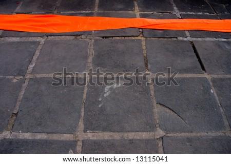 orange robe - stock photo