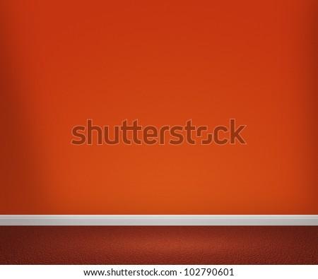 Orange Room - stock photo