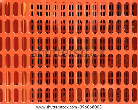 orange safety grate  - stock photo