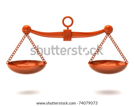 Orange scales - stock photo
