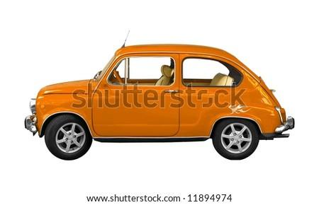 orange Seat 600E isolated on white background - stock photo