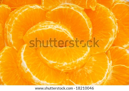 Orange segment background