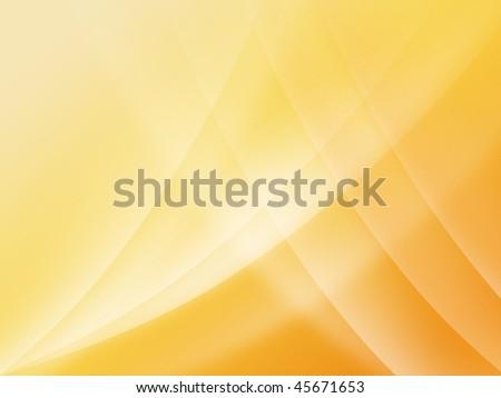 Orange silk wave background - stock photo