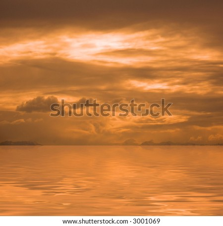 Orange Sky - stock photo