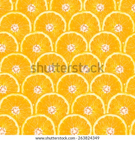 Orange Slice Abstract Seamless Pattern - stock photo