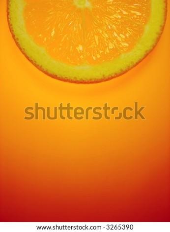 orange slice on orange background - stock photo