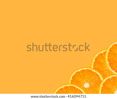 Orange slices as background texture - stock photo