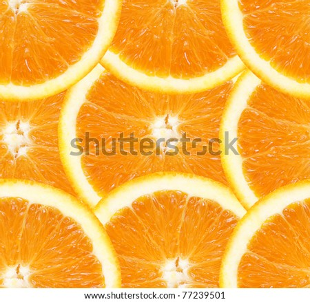 Orange slices seamless background - stock photo