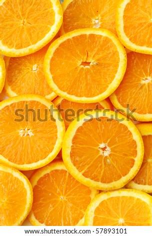 orange slices texture - stock photo