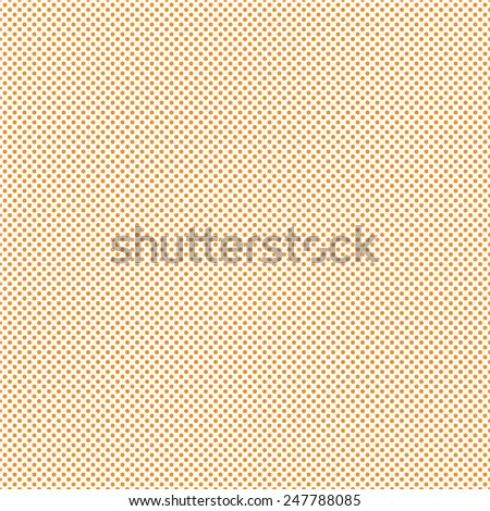 Orange Small Polka Dot Pattern Repeat Background that is seamless and repeats - stock photo