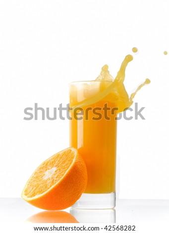 orange splash - stock photo
